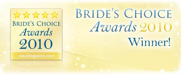 Wedding Wire Bride's Choice Award Winner, 2010